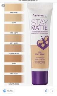 Rimmel Stay Matte 103 shade