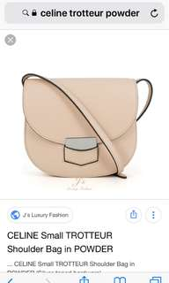 Celine trotteur medium size powder