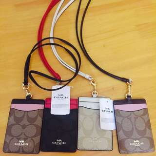 Coach Lanyard Card Holder