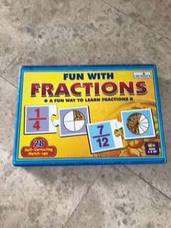 Educational Toy fractions puzzle
