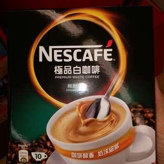 全新咖啡 white coffee  unsweetened 冇糖 10 條 Nescafe 極品白咖啡