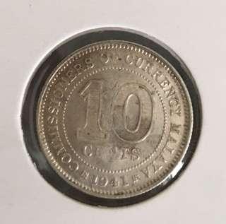 Malaya 1941 coin