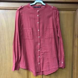 [ZARA] Long Sleeved Blouse
