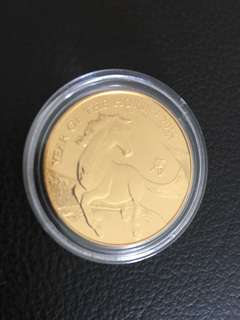 1 oz UK Lunar Horse first series .999 Gold BU