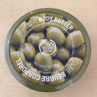 The Body Shop,Olive body butter,橄欖,身體滋潤霜,200毫升