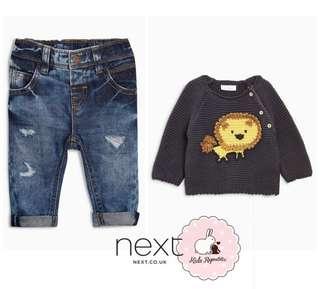 NEXY KIDS/ BABY UK - jeans/ jumper