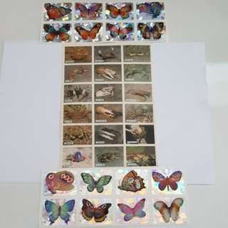 Stickers - Butterfly / Crab + 1 free gift