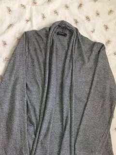 SM Woman Long dark acid gray cardigan