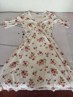 Long maxi flora dress (L size)
