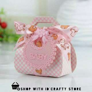 [PROMO | inStock] Pink Baby Shower Bear Boxes