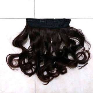 Curly Brown Hairclip