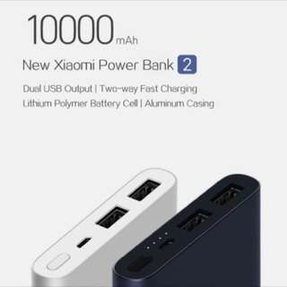NEW VERSION Xiaomi 10000mah Powerbank 2 USB ports