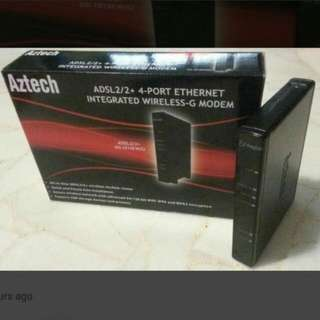 ADSL2/2 4 Ports Ethernet Integrated Wireless-G Modem Router.
