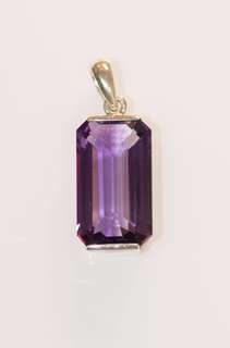 Amethyst Pendant with Silver