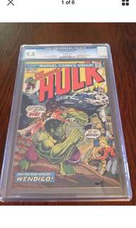 Incredible Hulk #180 CGC 9.4 1st Appearance Of Wolverine!
