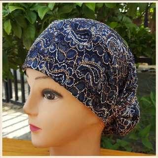 穆斯林用品绣花女帽新款回族回民清真盖头衬帽伊斯兰包头帽9