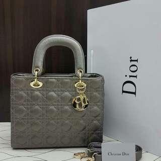 Lady Dior Silver Grey