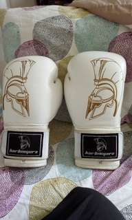 Harbingerz white boxing gloves