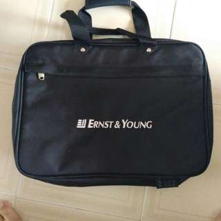 Ernst & young. EY. briefcase. work bag.