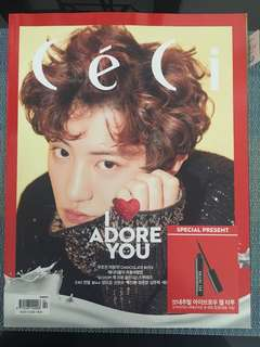 Ceci 2017 2月號 Chanyeol cover 雜誌