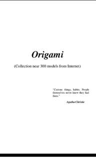Origami (Collection near 300 models from Internet)