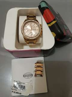 Original Fossil Gold Watch