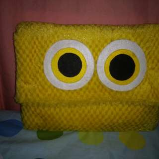 Yellow owl hand bag