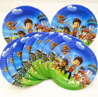 Paw Patrol party supplies - Paw Patrol party plates