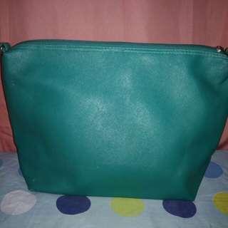 Blue green parisian shoulder bag
