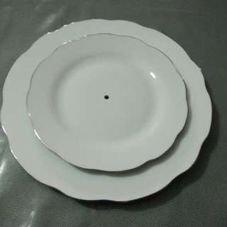 2 layers cup cake decoration plate