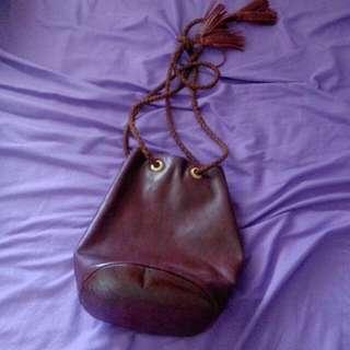 Genuine Leather Bucket Bag Rapiecage