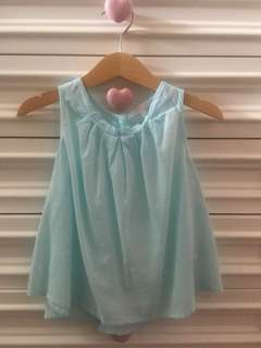 Baby Blue Sleeveless Tops