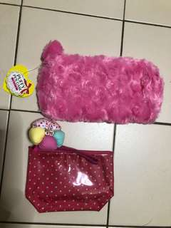 Puffy pencil case + Pouch
