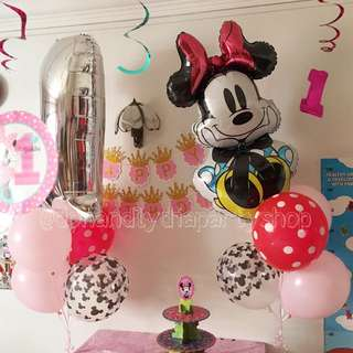 Minnie Mouse helium balloons