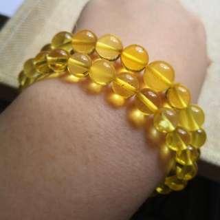 亏本清货💥金珀手链有证书 7mm 我只做原矿琥珀 纯天然 假一罚十  $98 each Gold Amber
