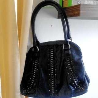 Black Leather Hand Bag Nine West