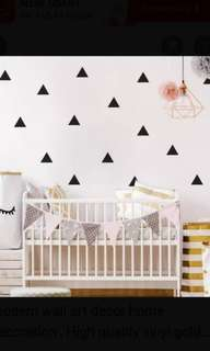 Triangle wall sticker Home decor  $20=40pcs Hight 8cm