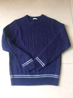 深藍色冷衫 kids size 140