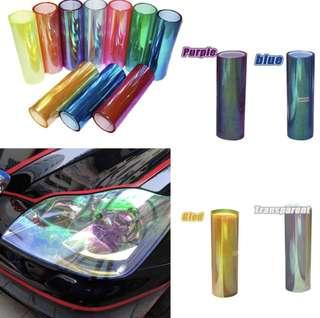 120*30 Transparent Chameleon Changing Tint Wrap Sticker Headlight Film Car Light Lamp