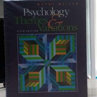 Psychology Themes Varations 5th edition