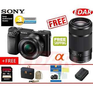 SONY A6000 ALPHA 16-50MM + 55-210MM TWIN KIT LENS MIRRORLESS  ««ORIGINAL & OFFICIAL SONY»»