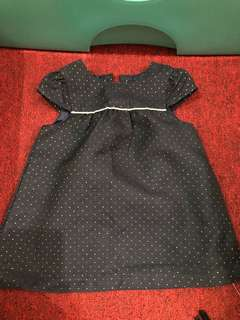 Primark baby black dress 3 to 6 months