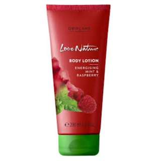 Love nature body lotion energising mint & raspberry