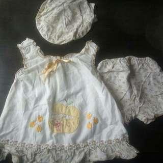 Baju Baby Girl 3 pcs