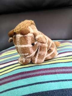 Brown coloured giraffe plushie