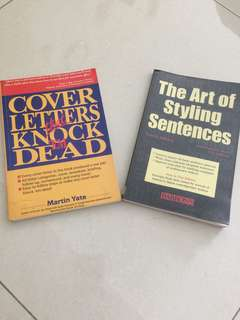 Cover letters and styling sentences