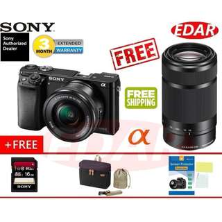 SONY A6000 ALPHA 16-50MM + 55-210MM TWIN KIT LENS  ««ORIGINAL & OFFICIAL SONY»»
