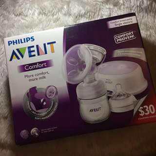 Brand New!! AVENT Single Electric Breast Pump + Milk Storage Bags Discounted 💗