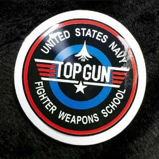 Top Gun Car Decal