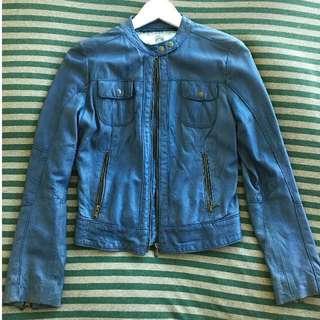 藍色小羊皮皮衣 S Size 義大利佛羅倫斯購入